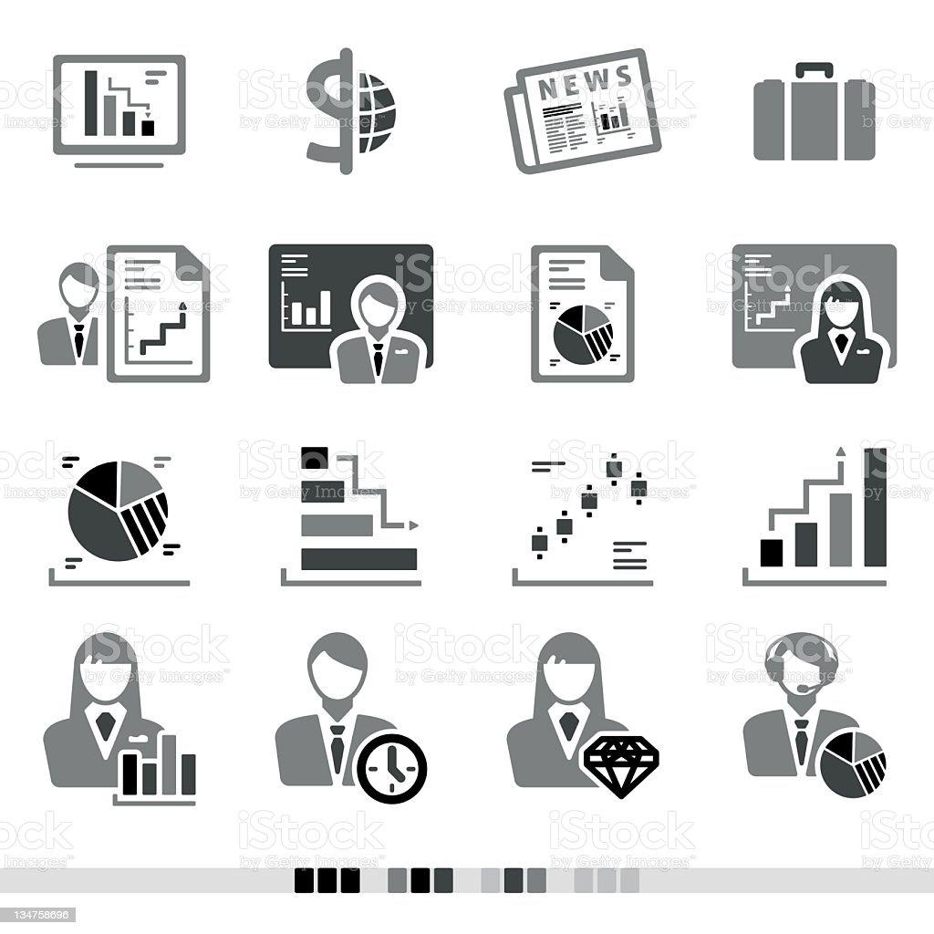 Finance & Stock Market | Grey Icons royalty-free stock vector art