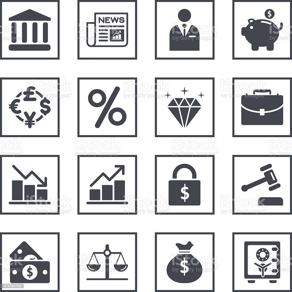 Finance Trading Related Symbols vector art illustration