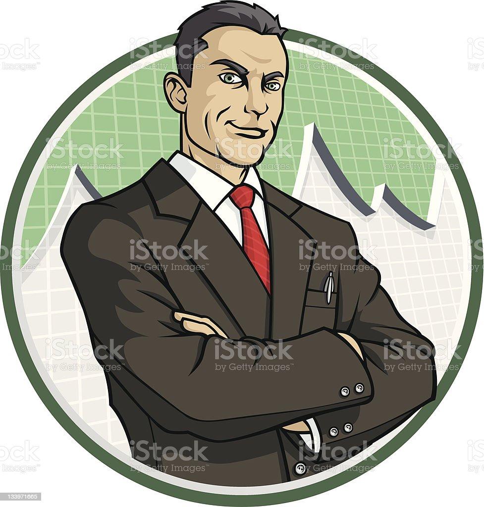 Financial Advisor vector art illustration