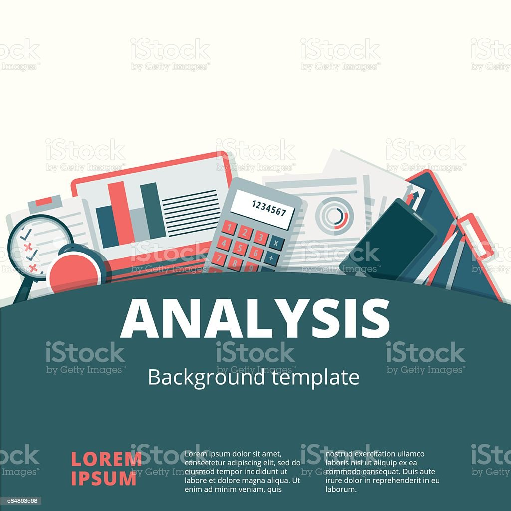 Financial analysis vector background design. Audit vector art illustration
