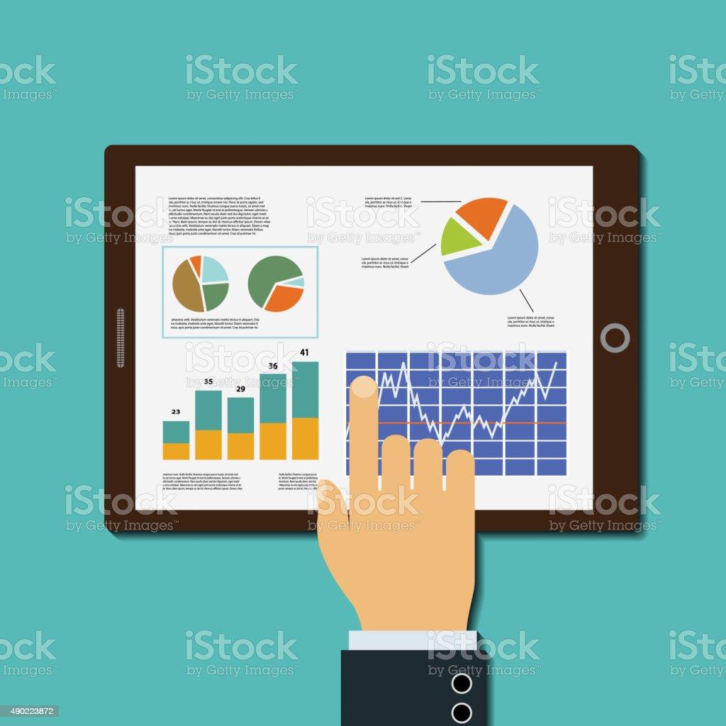 Financial analysis vector art illustration