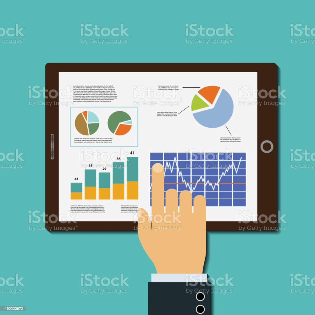 Financial analysis vector art illustration
