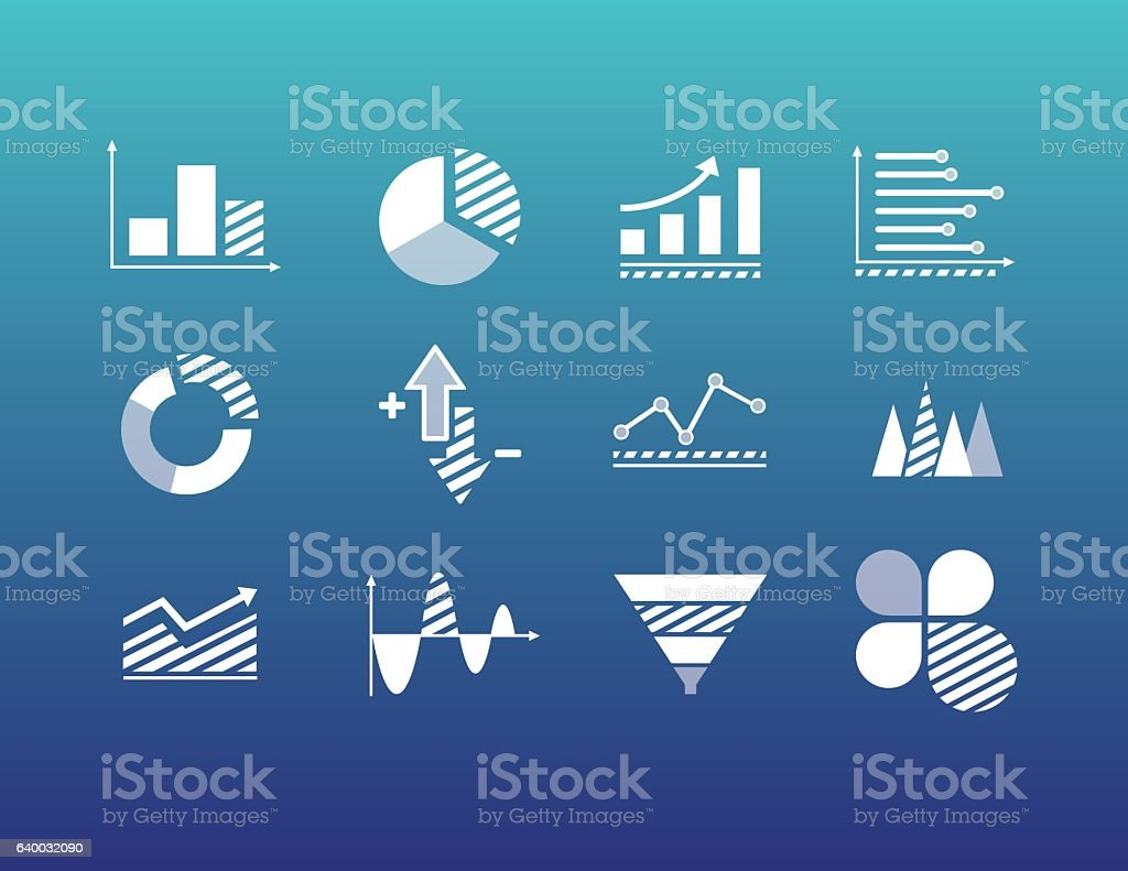 FInancial and Economic data analysis vector art illustration