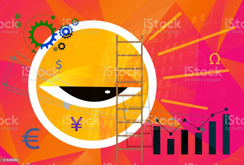Financial Audit Abstract vector art illustration