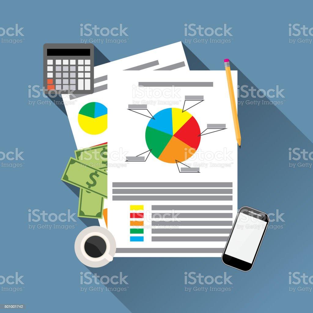 financial calculations design vector art illustration