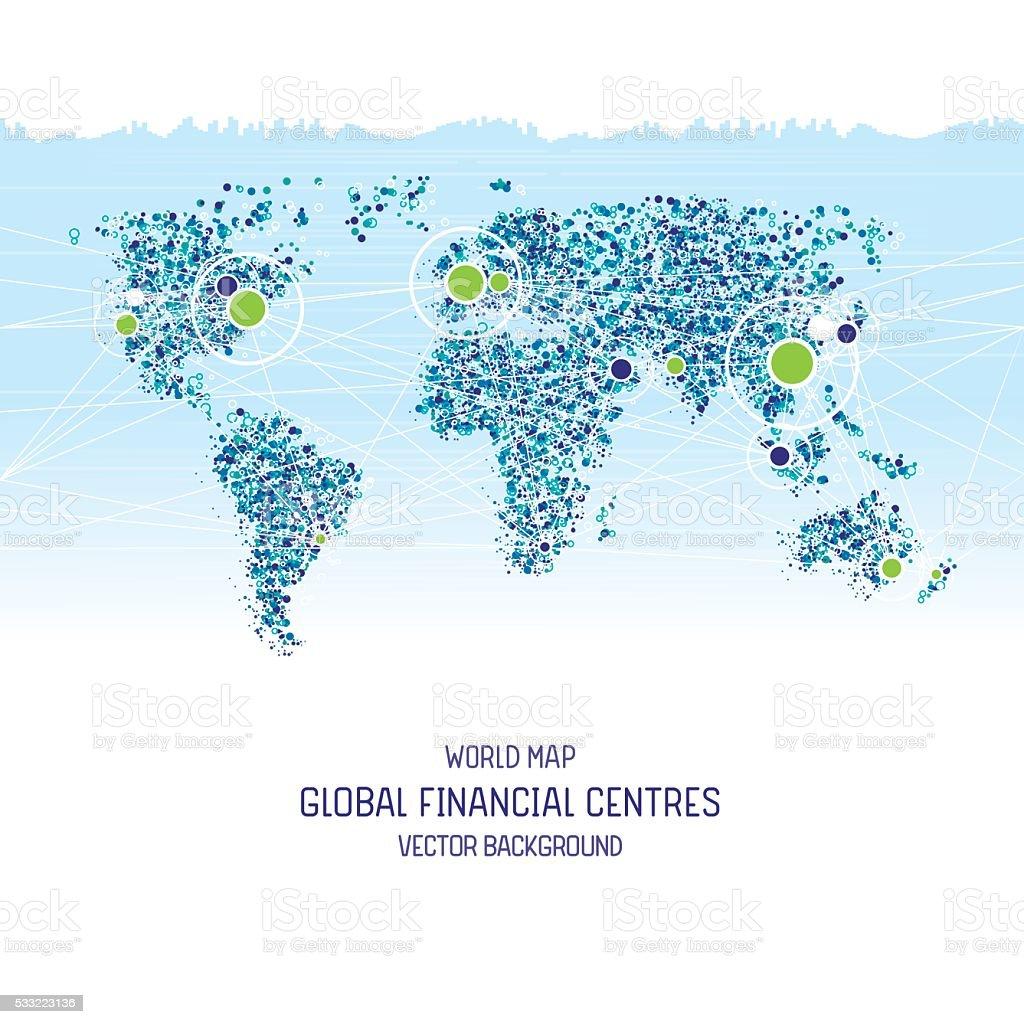 Financial centers vector art illustration