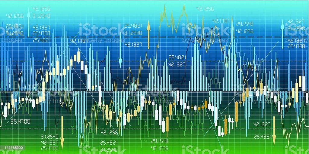 Financial chart analysis border 2 royalty-free stock vector art