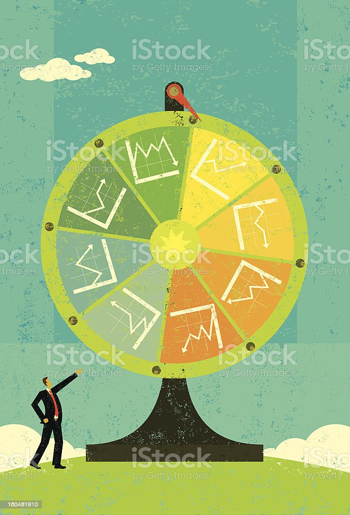 Financial Chart Fortune Wheel royalty-free stock vector art