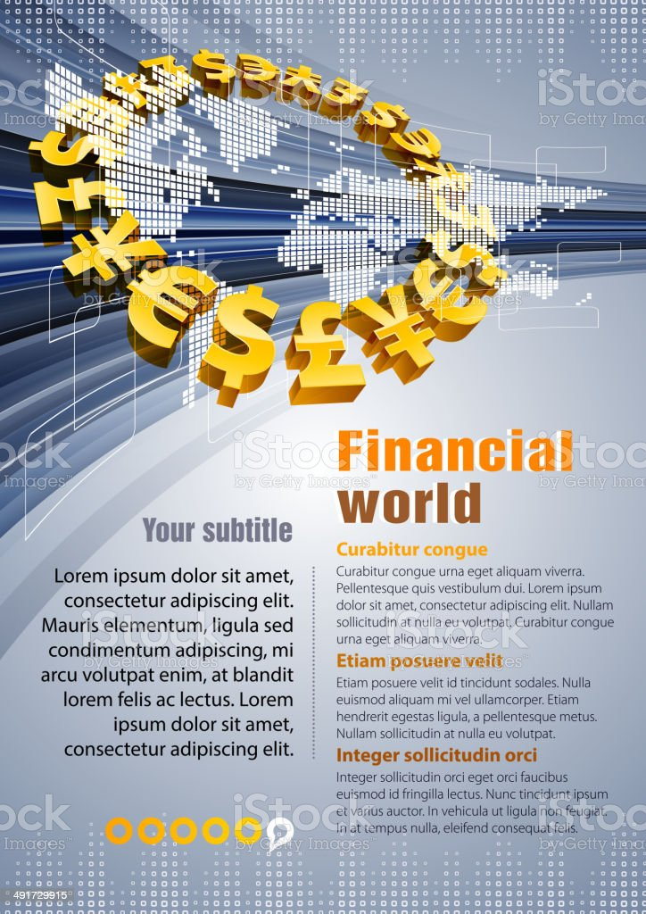 Financial charts royalty-free stock vector art