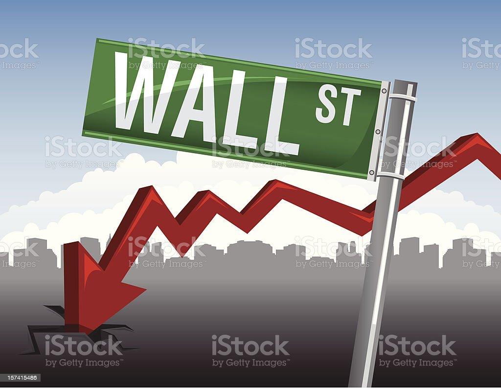 financial crisis concept royalty-free stock vector art