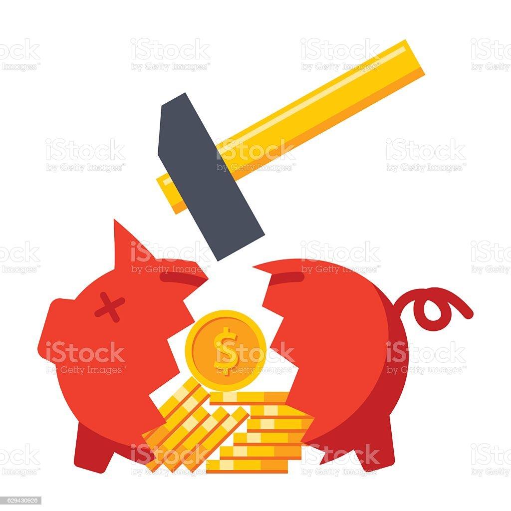 Financial Crisis Concept vector art illustration