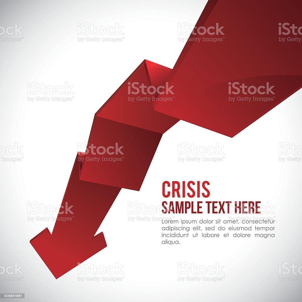 financial crisis design vector art illustration