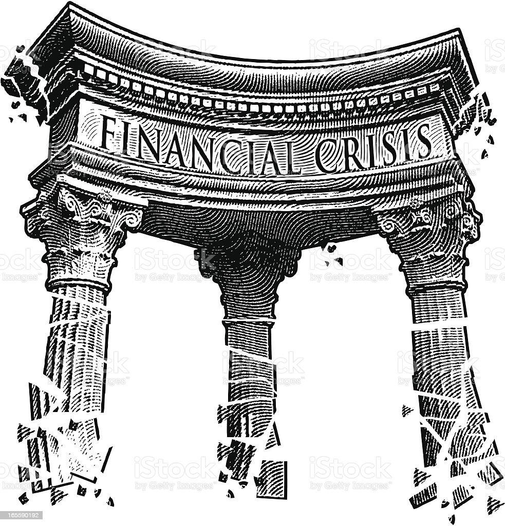 Financial Crisis royalty-free stock vector art