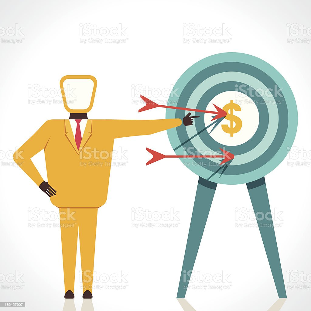 financial goal royalty-free stock vector art
