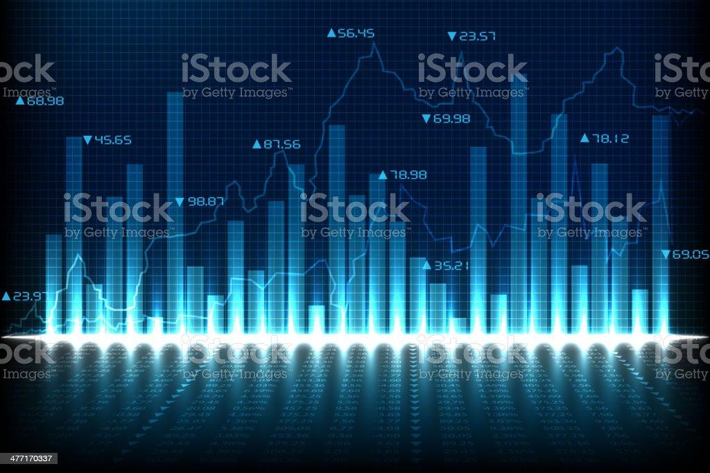 Financial Graph Chart vector art illustration