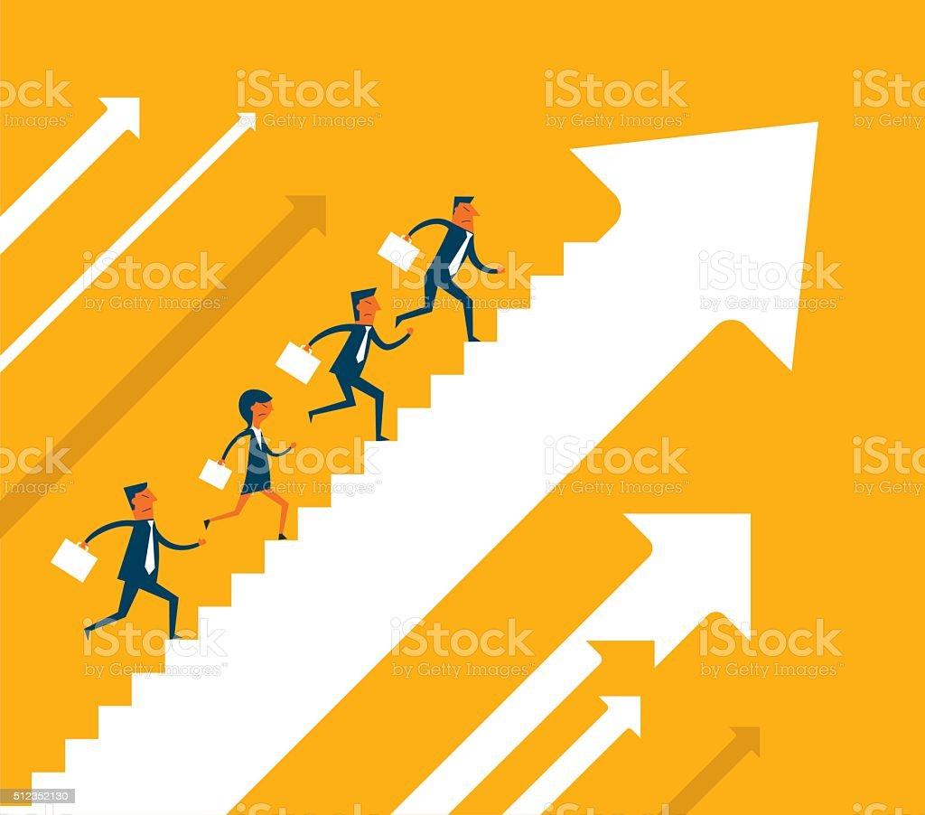 Financial Growth vector art illustration
