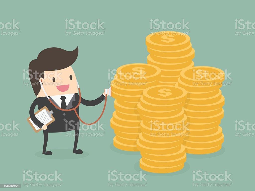Financial health check vector art illustration
