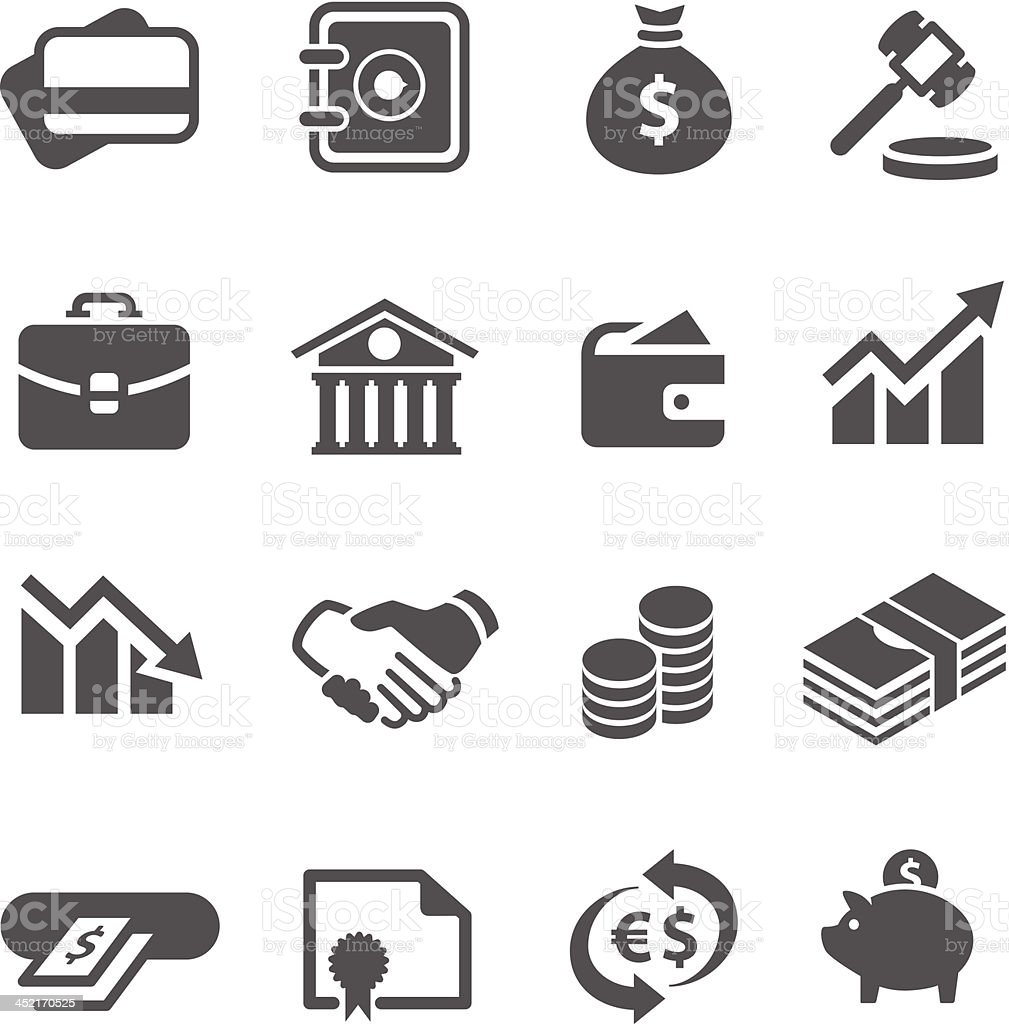 Financial icons set. vector art illustration