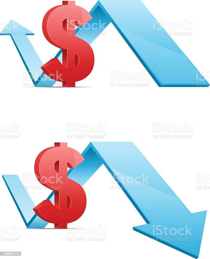 Financial Icons set vector art illustration