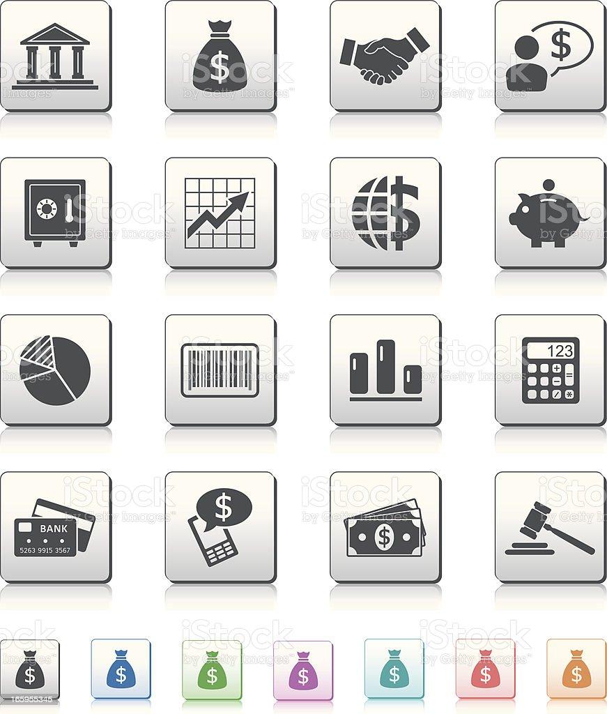Financial Icons vector art illustration