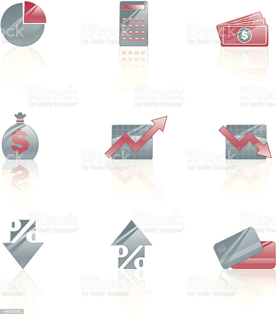 Financial Icons royalty-free stock vector art