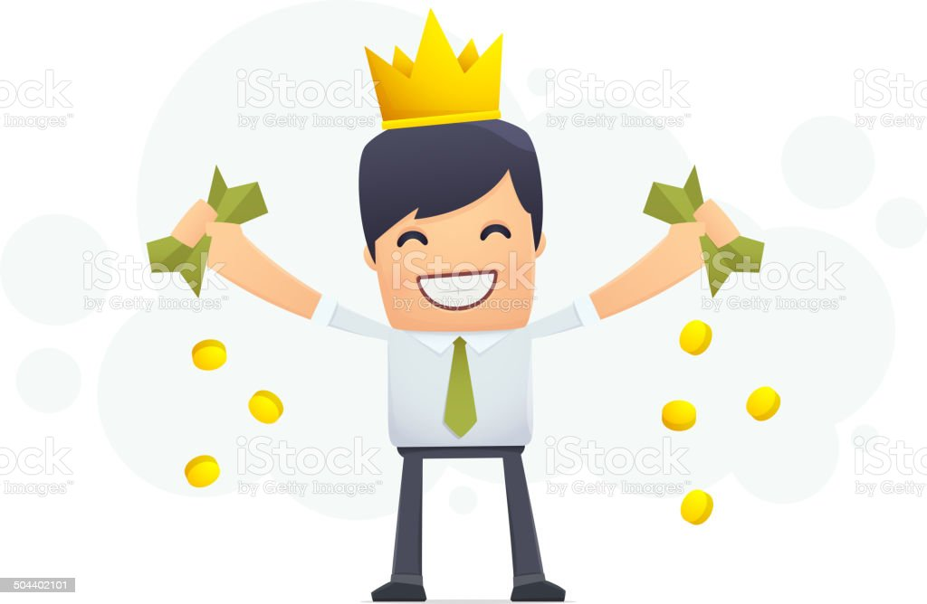 Financial king royalty-free stock vector art