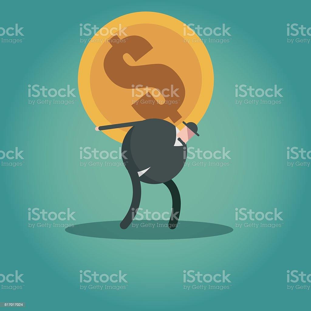 financial occupation vector art illustration