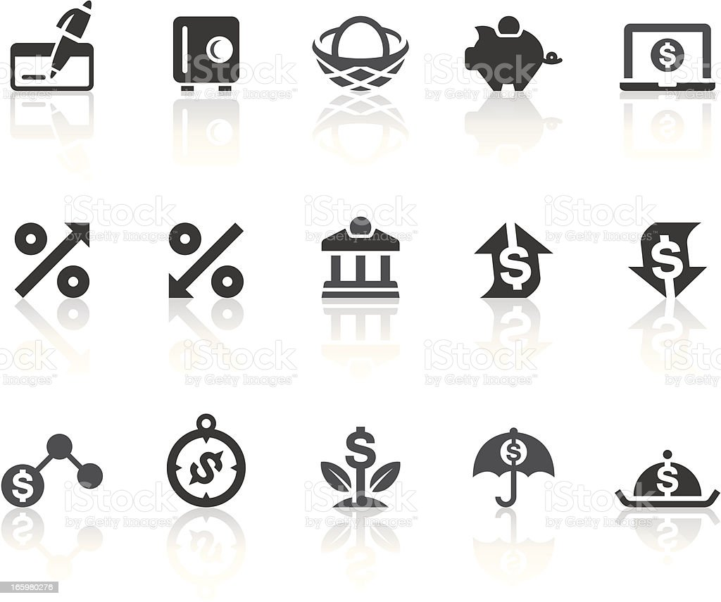Financial Planning Icons | Simple Black Series vector art illustration