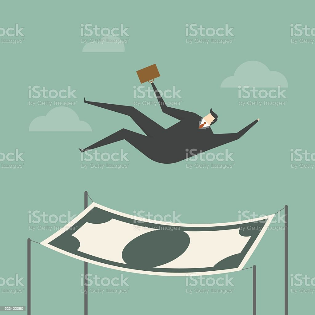 financial safety vector art illustration