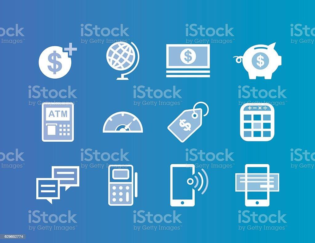 Financial Service icons vector art illustration