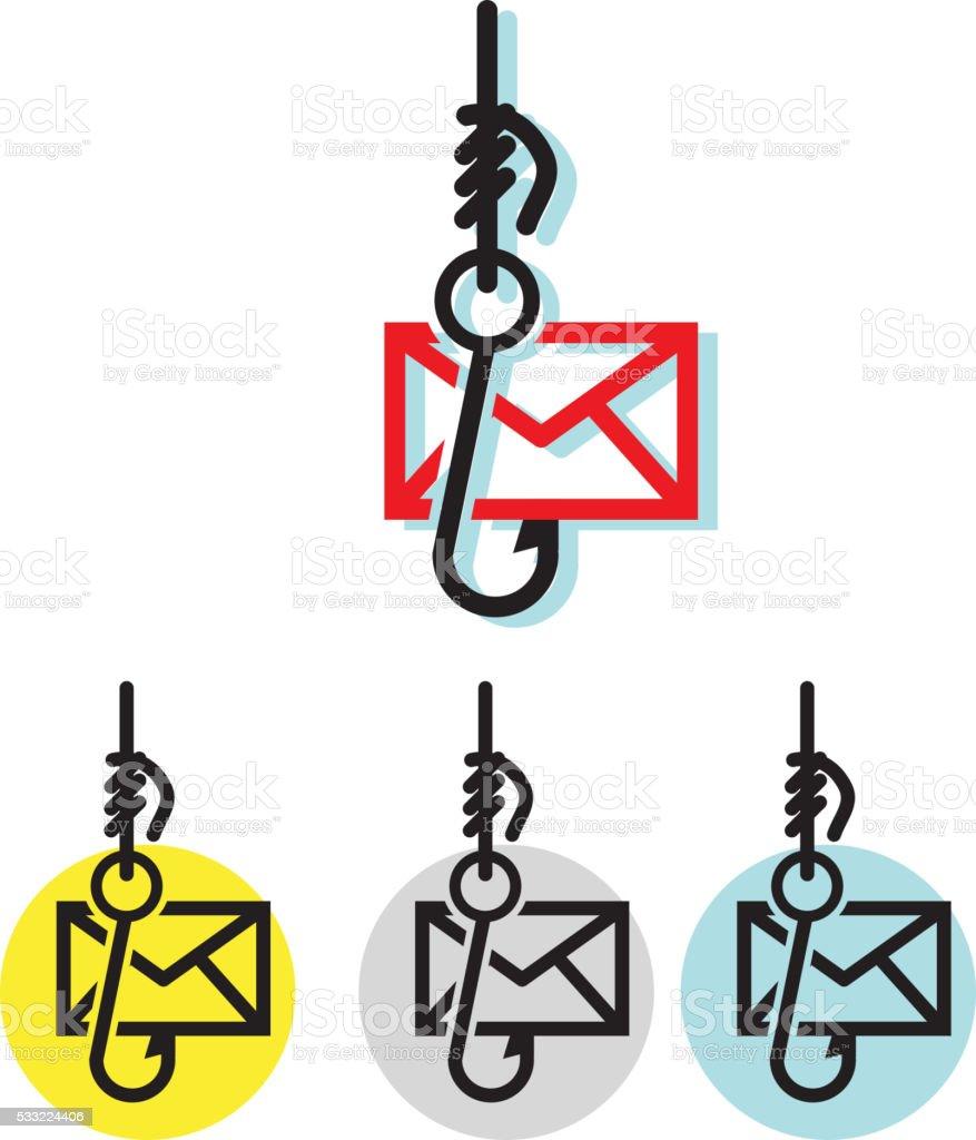 Financial System Fraud - Phishing Mail vector art illustration