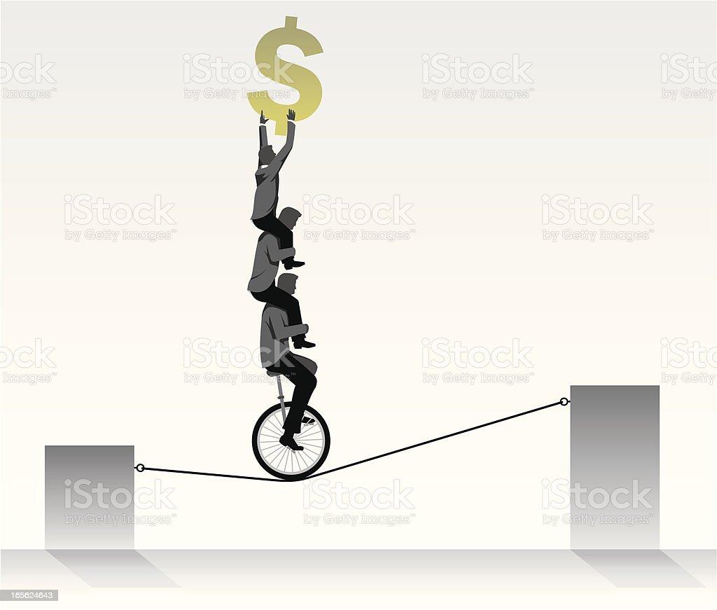 Financial Team Work vector art illustration
