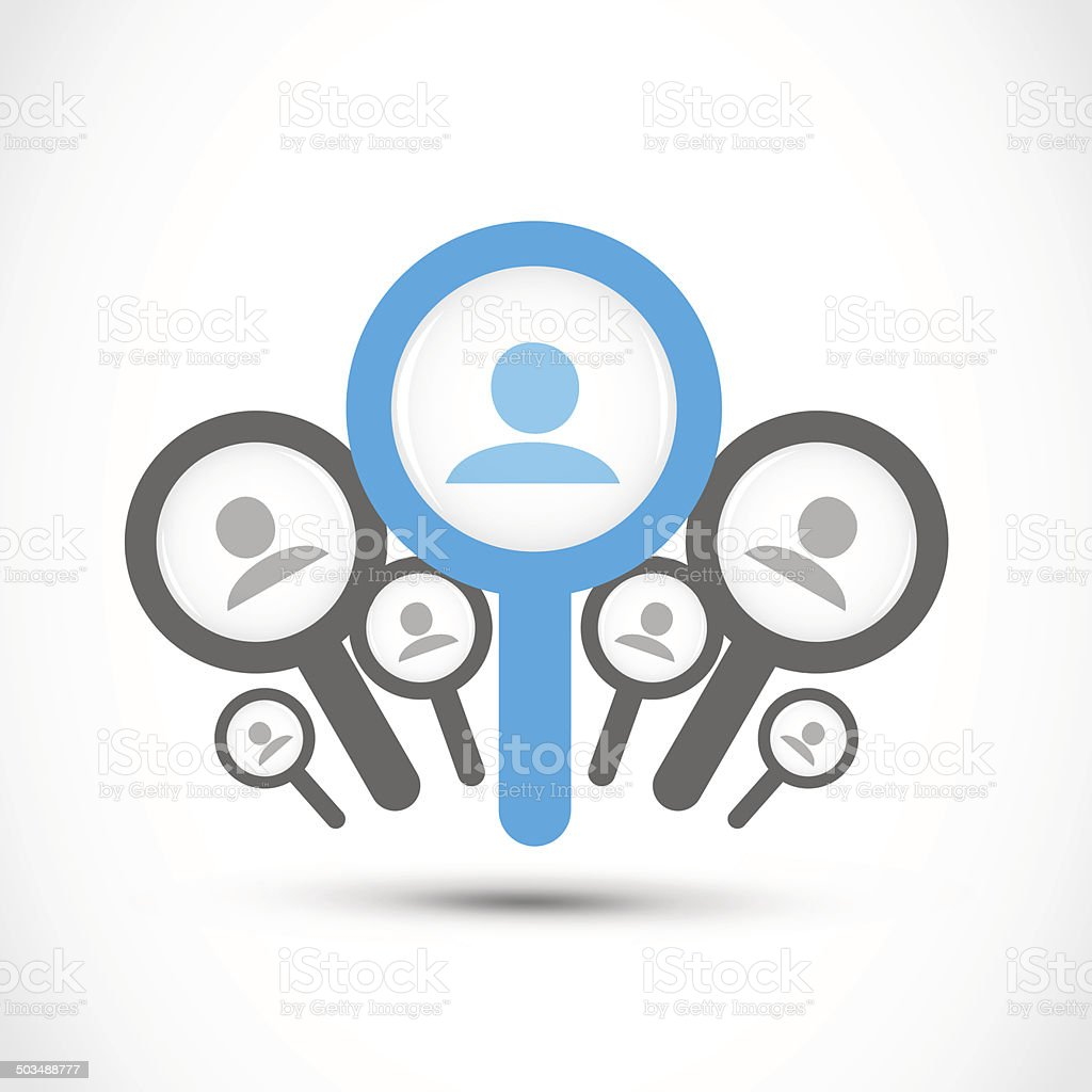 find a job, job search concept vector art illustration