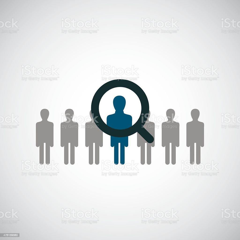 find man icon vector art illustration