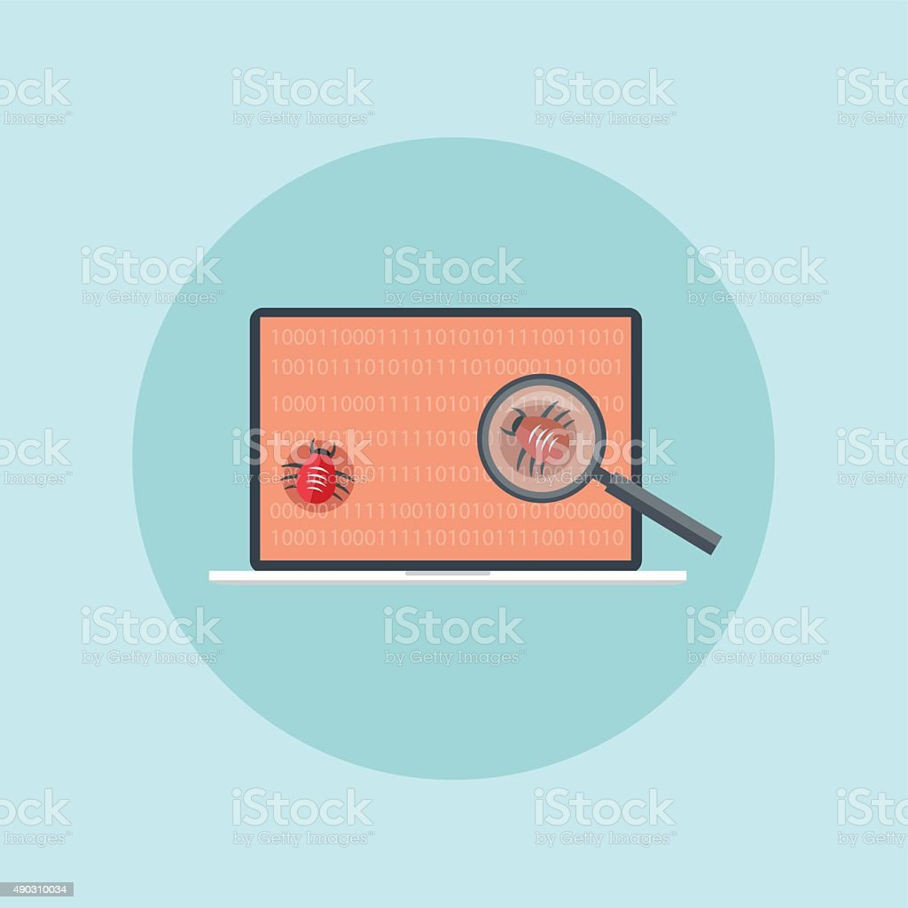 find security hole attack vector art illustration