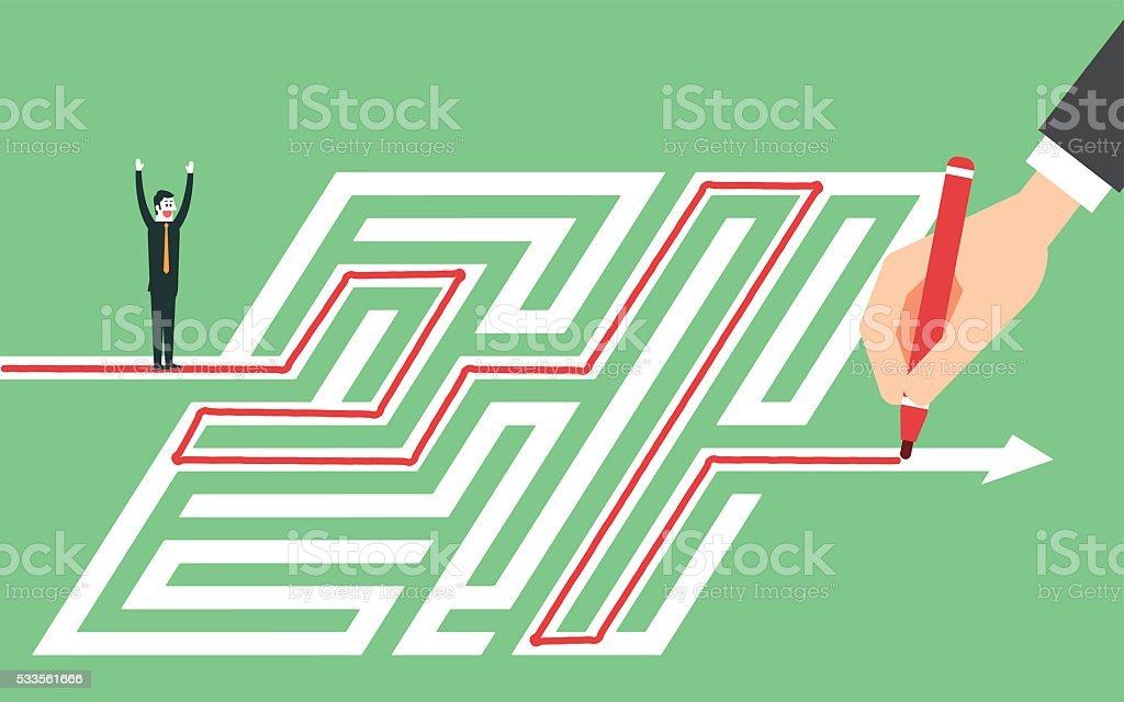 Find solution vector art illustration