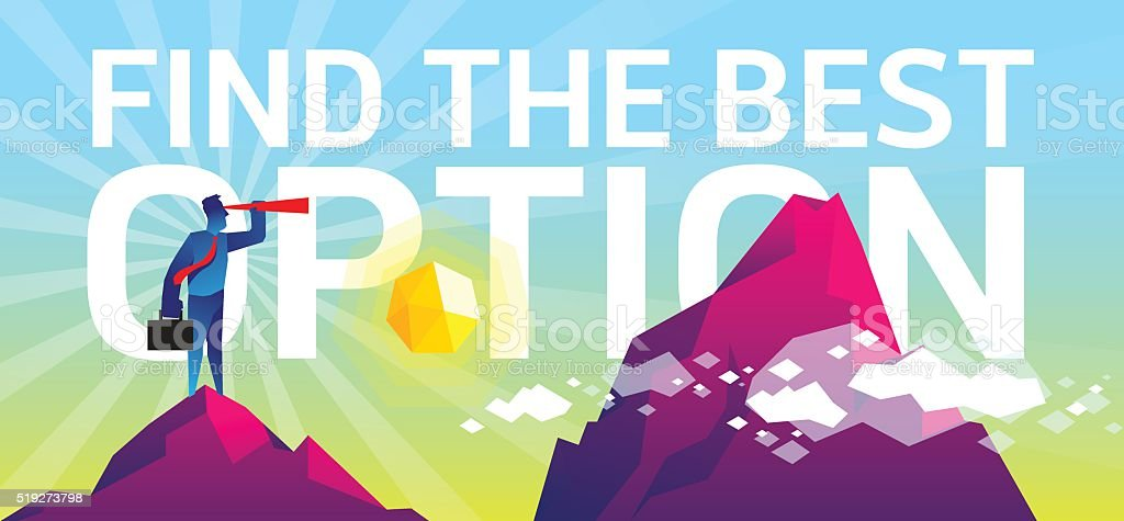 Find the best option vector art illustration