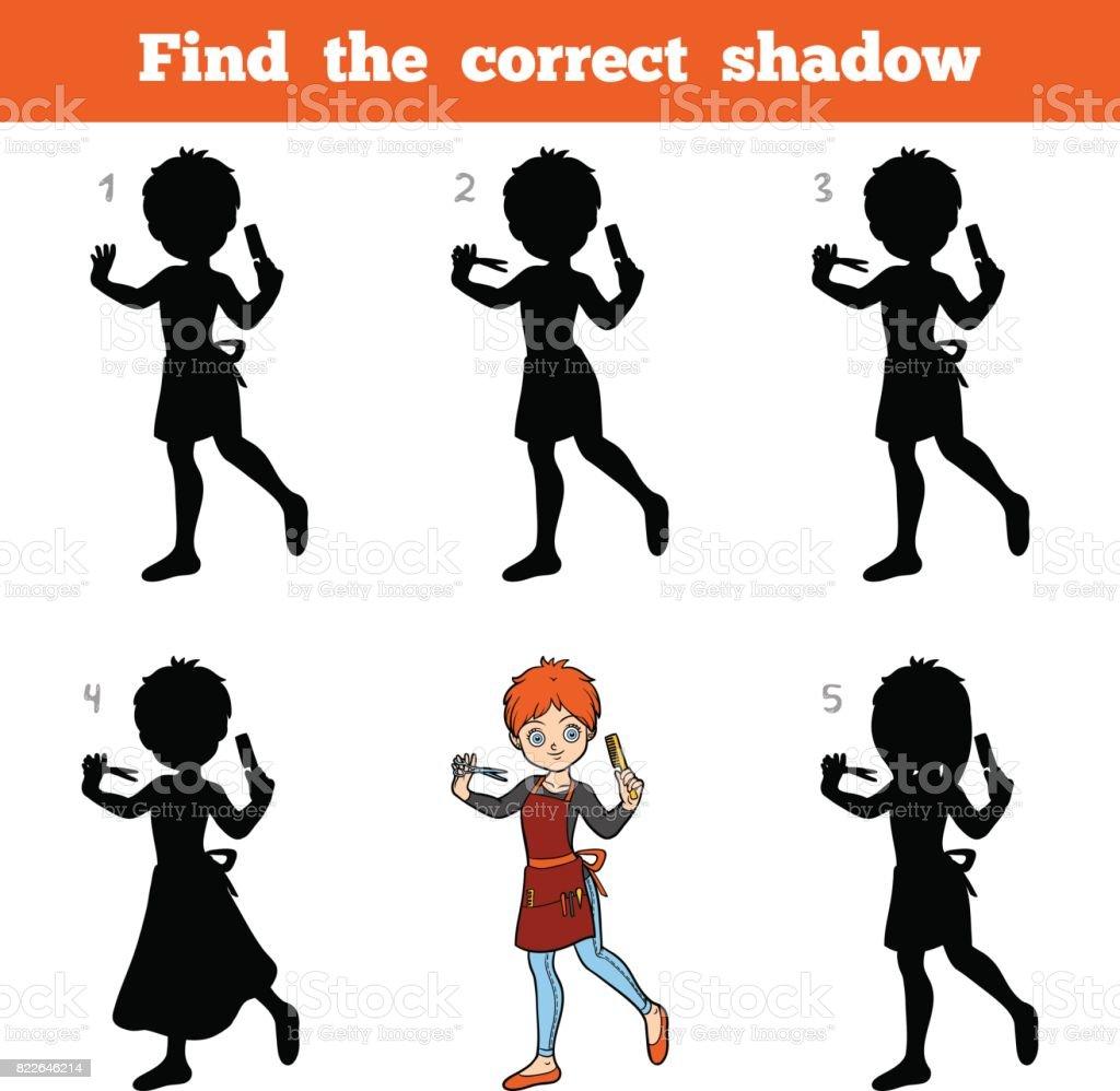 encontrar la sombra correcta juego para nios peluquera libre de derechos libre de