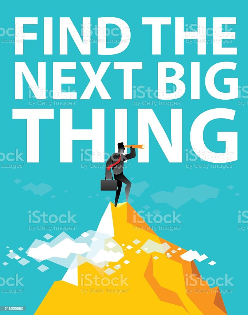 Find the next big thing vector art illustration