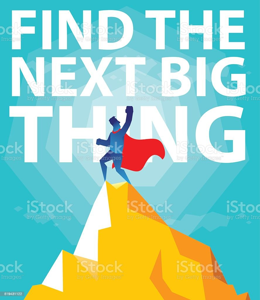 Find the next big thing. vector art illustration