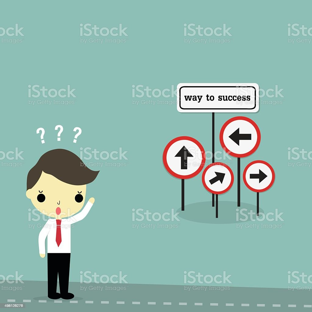 find the way to success vector art illustration