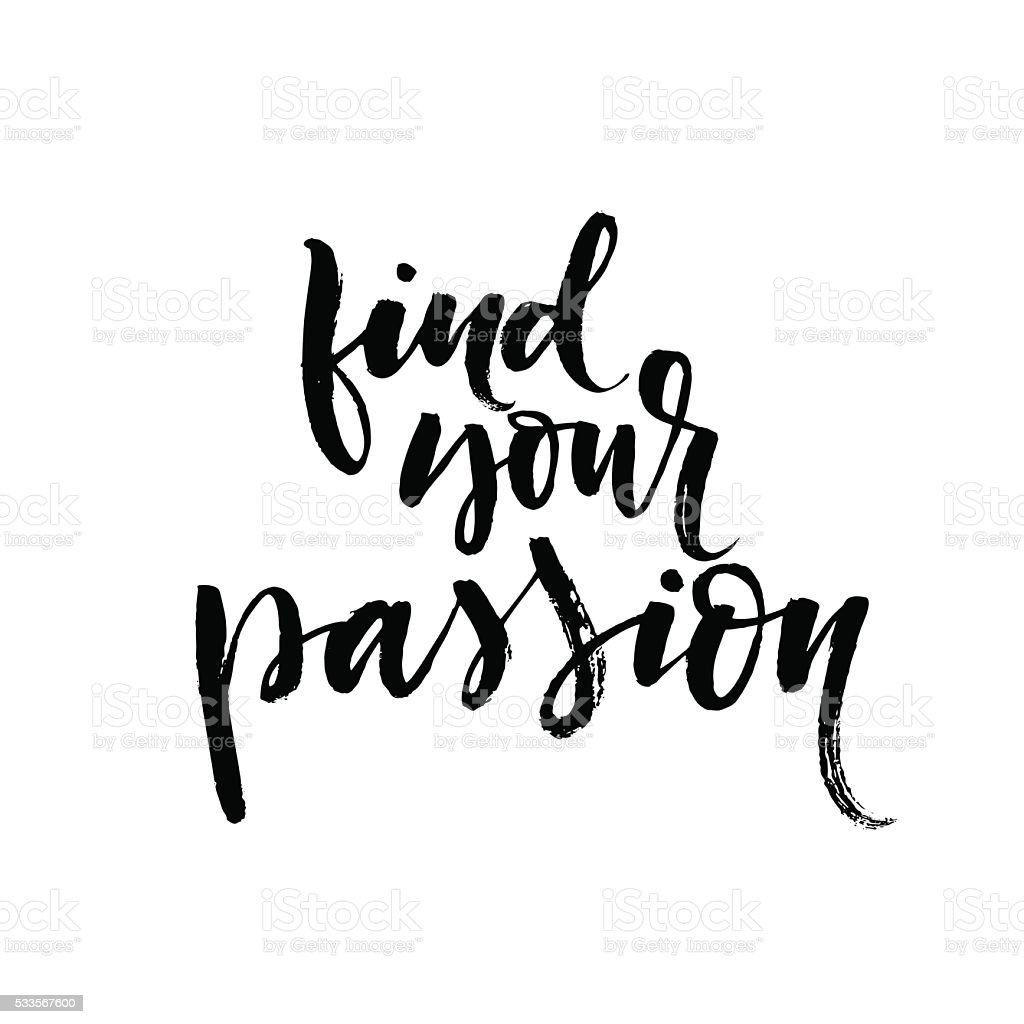 Find your passion card. vector art illustration