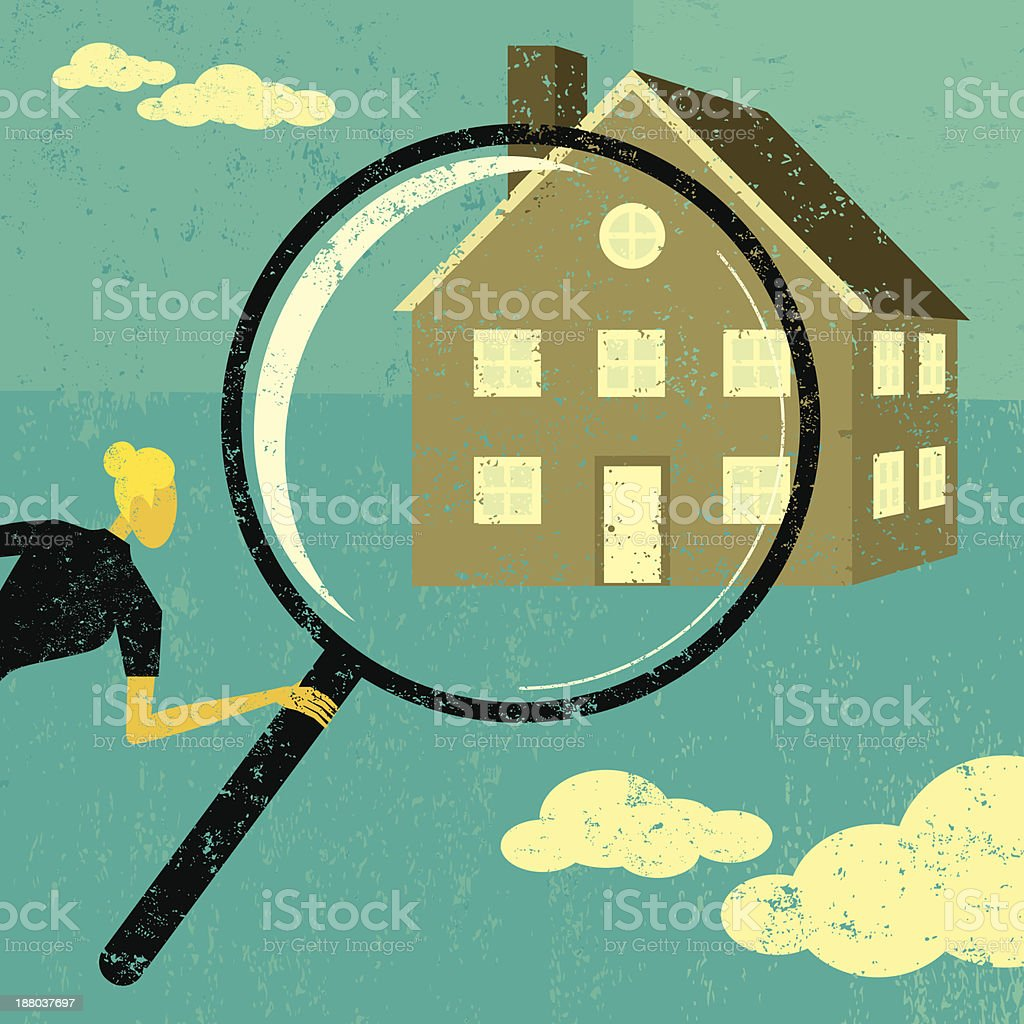Finding a home royalty-free stock vector art