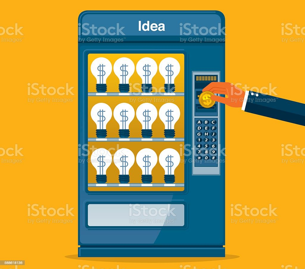 Finding Idea vector art illustration