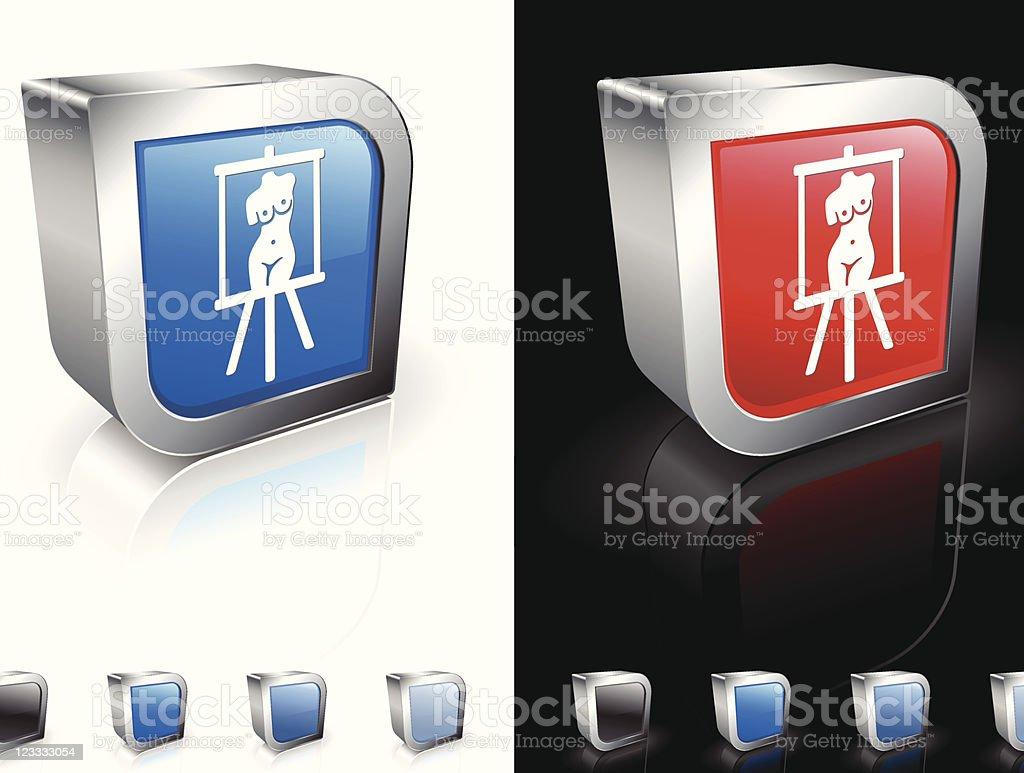 fine art painting 3D royalty free vector art royalty-free stock vector art