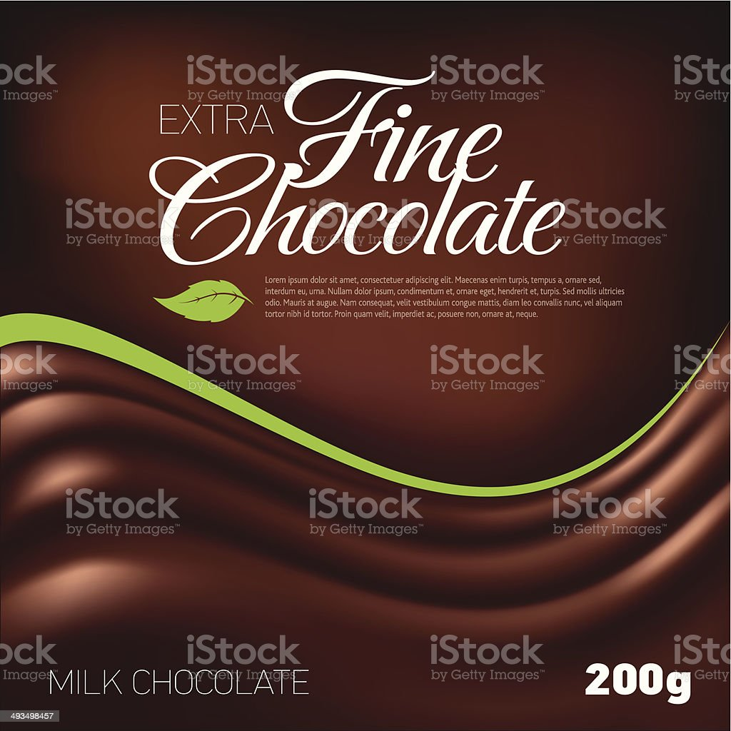 Fine Chocolate vector art illustration