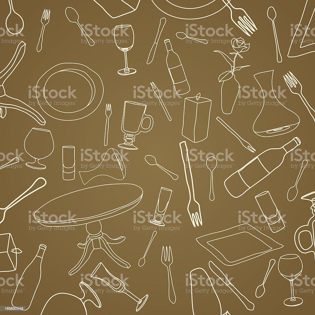 Fine Dining vector art illustration