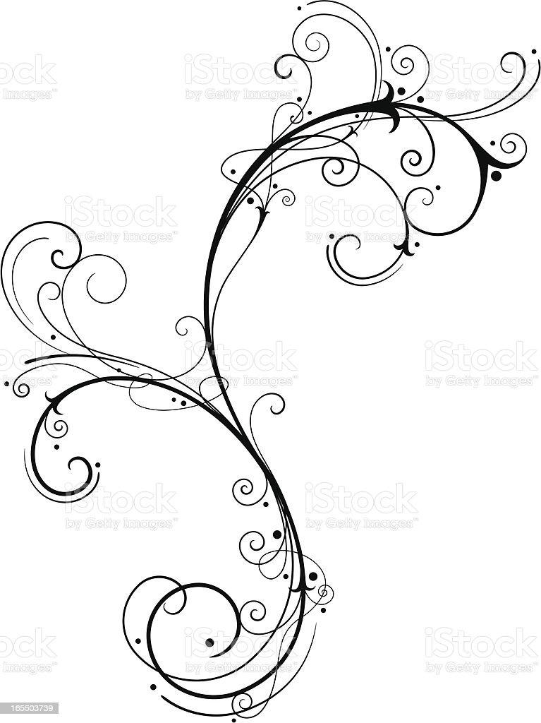 Fine Filigree vector art illustration