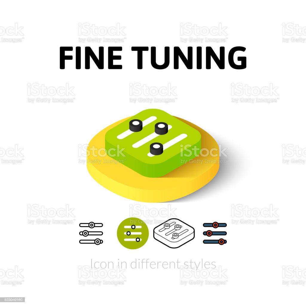 Fine tuning icon in different style vector art illustration