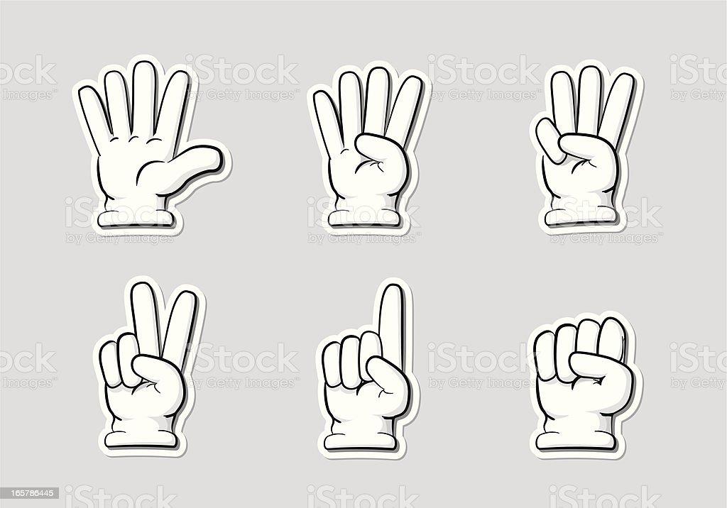 Finger Countdown vector art illustration
